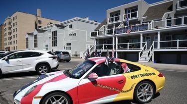 A Long Beach man has flown flags regularly
