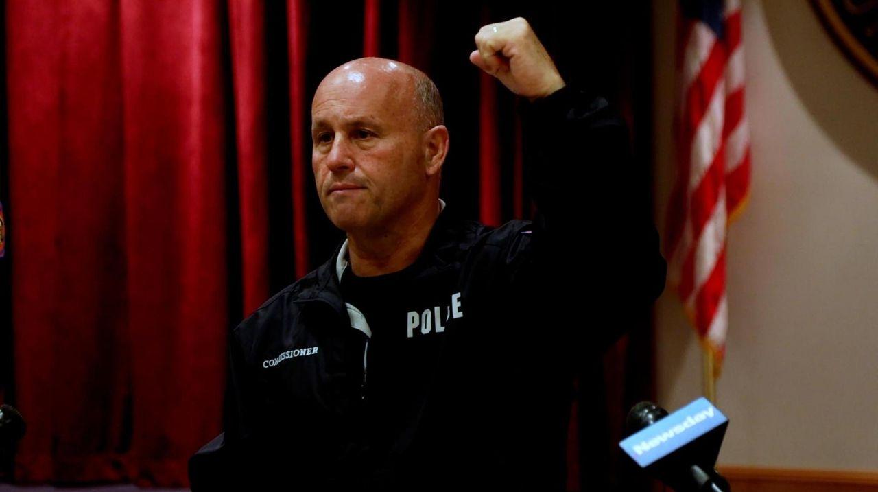 Nassau County Police Commissioner Patrick Ryder, speaking in