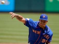Mets pitcher Taijuan Walker throws during the first