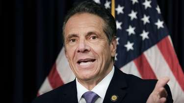 Gov. Andrew M. Cuomo speaks at a news