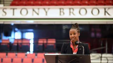 Ashley Langford, newly-named Stony Brook women's basketball head