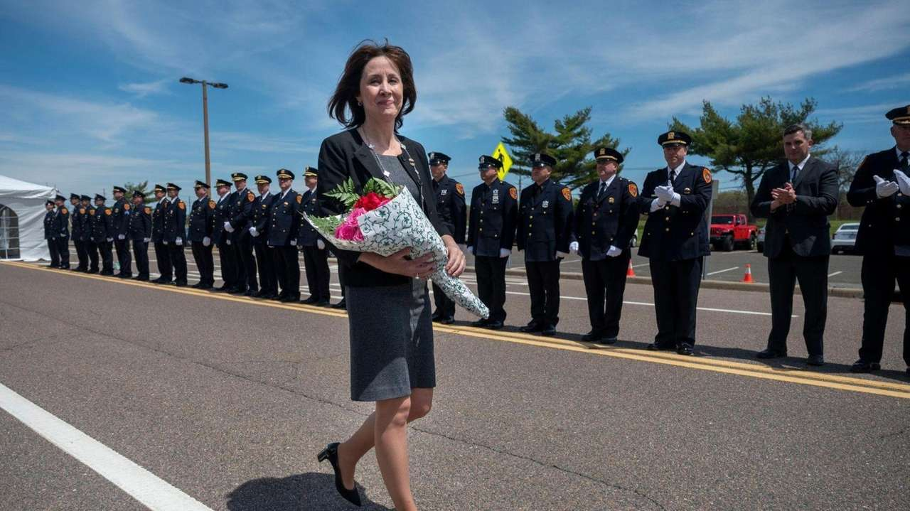 Suffolk County Police Commissioner Geraldine Hart reflected on