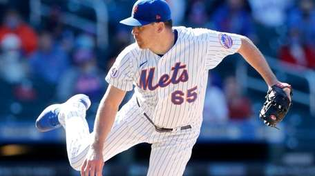 Trevor May #65 of the New York Mets