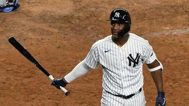 New York Yankees' Miguel Andujar returns to the