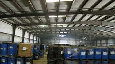 Waste containers in a warehouse in Valdosta, Georgia,