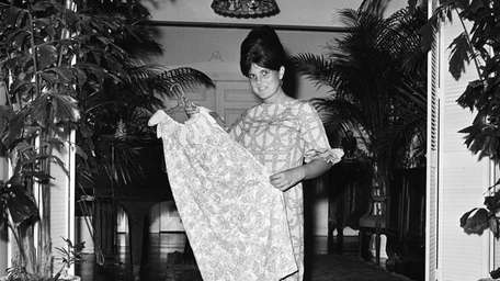Fashion designer Lilly Pulitzer, of Roslyn, wears her