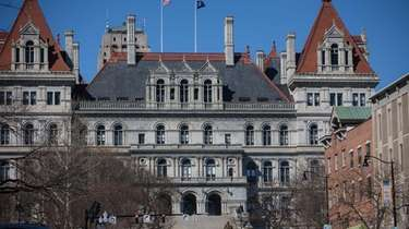 The New York State Capitol building is pictured
