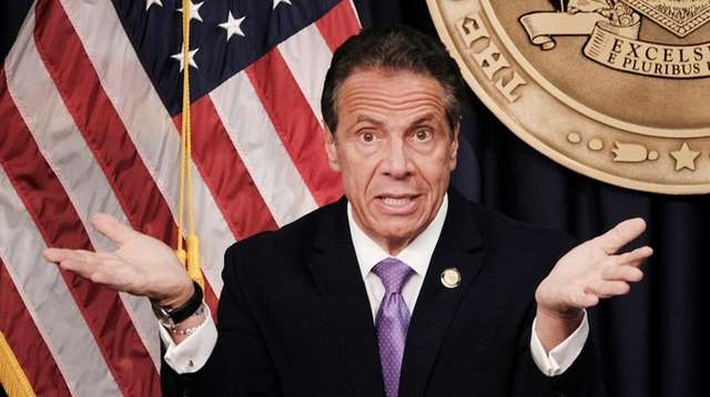 Gov. Andrew M. Cuomo speaks during a news