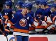 Islanders center Brock Nelson (29) celebrates his goal