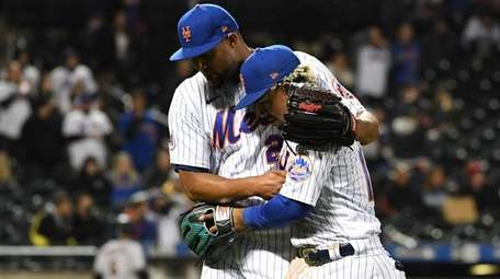 Mets relief pitcher Jeurys Familia and shortstop Francisco