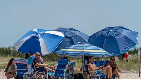 Friends and families gather at Orient Beach State