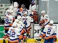 The Islanders leave the ice after they were