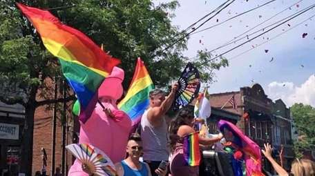 The Babylon Village Pride Parade, pictured here in