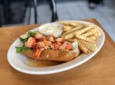 Varney's in Brookhaven serves a hot-buttered lobster roll,
