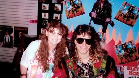Michele Rizzo-Berg with guitarist Steve Vai at Roosevelt