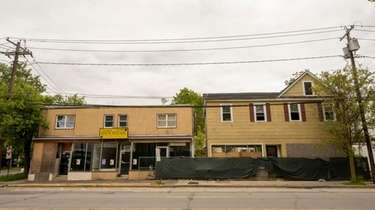 Site of apartment development to come on Middle