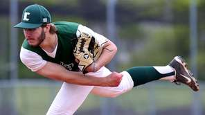 Longwood relief pitcher Josh Dannenberg closes out the