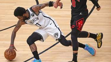 Kyrie Irving #11 of the Brooklyn Nets is