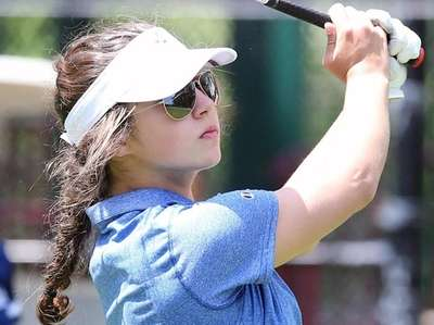 Kellenberg's Claire Galante competes at the CHSAA High