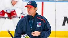 Rangers head coach David Quinn at practice on