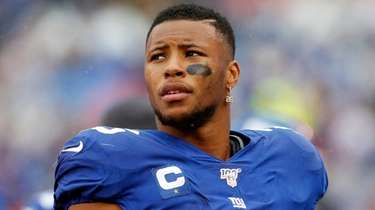 Saquon Barkley  of the Giants against the