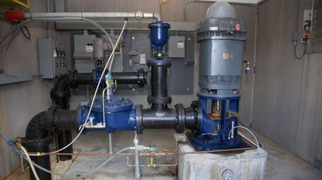 A Suffolk County Water Authority pump station in