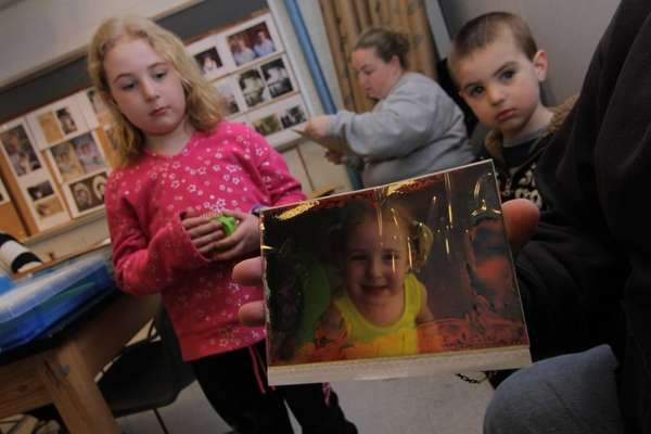 Samantha Schieda, 9, and her brother Anthony Schieda,