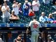 Matt Harvey of the Orioles leaves a game