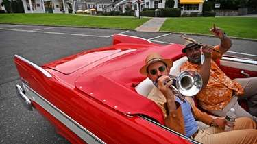 Musicians (Left to right) Thomas Manuel, Trumpet, and