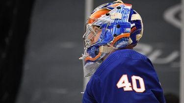 New York Islanders goaltender Semyon Varlamov against the