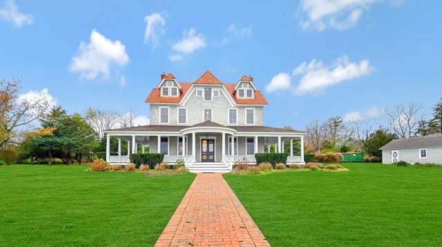Listed for $2.99 million in Center Moriches, this