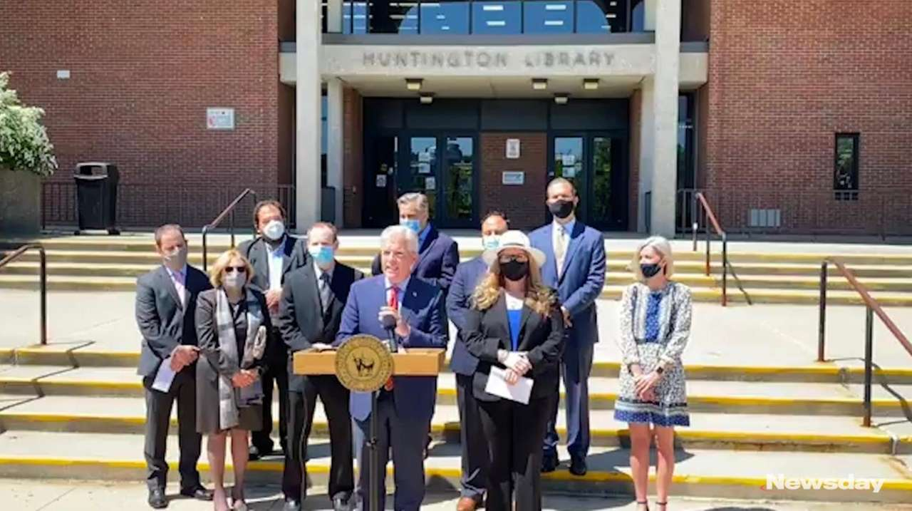 Suffolk County executive Steve Bellone on Friday announced