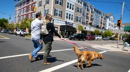 Domenic Colavito and Amanda Singer, with their dog