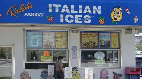 A customer is served Friday at Ralph's Italian