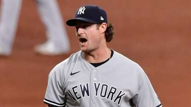 Gerrit Cole #45 of the New York Yankees