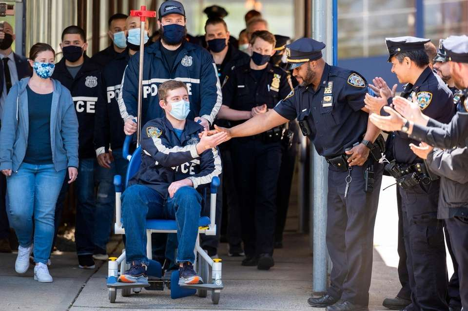 A NYPD officer Brian McGurran, is released from