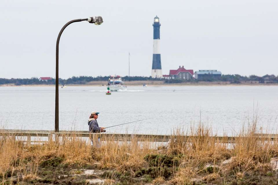 With the Fire Island Lighthouse as a backdrop,