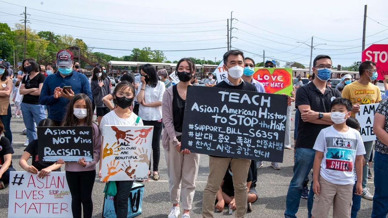 A rally for AAPI Heritage Month was held
