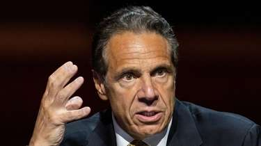 Gov. Andrew M. Cuomo speaks during a press