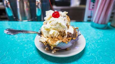 A s'mores sundae served up at Krisch's in