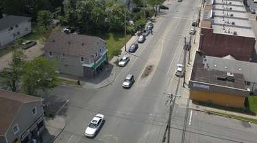 An aerial view of Sheridan Street at Prospect