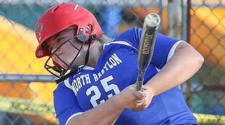 North BabylonÕs Ava Shorr hits a base hit