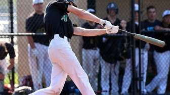 Ward Melville's Michael Mortilla connects for a double