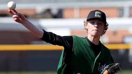 Longwood starting pitcher Sean Langan delivers a pitch
