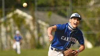 Owen Rose of Calhoun throws out a pitch