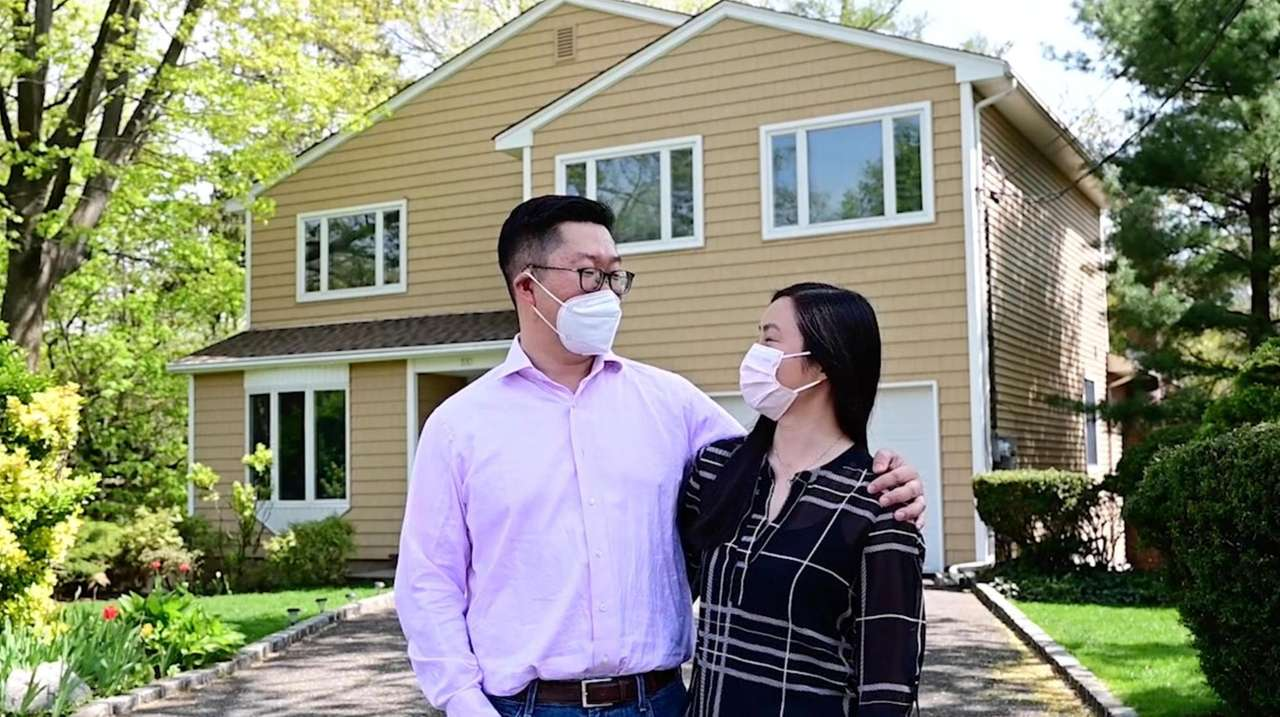 Mark Zhang and his wife, Diana Auyeung, have