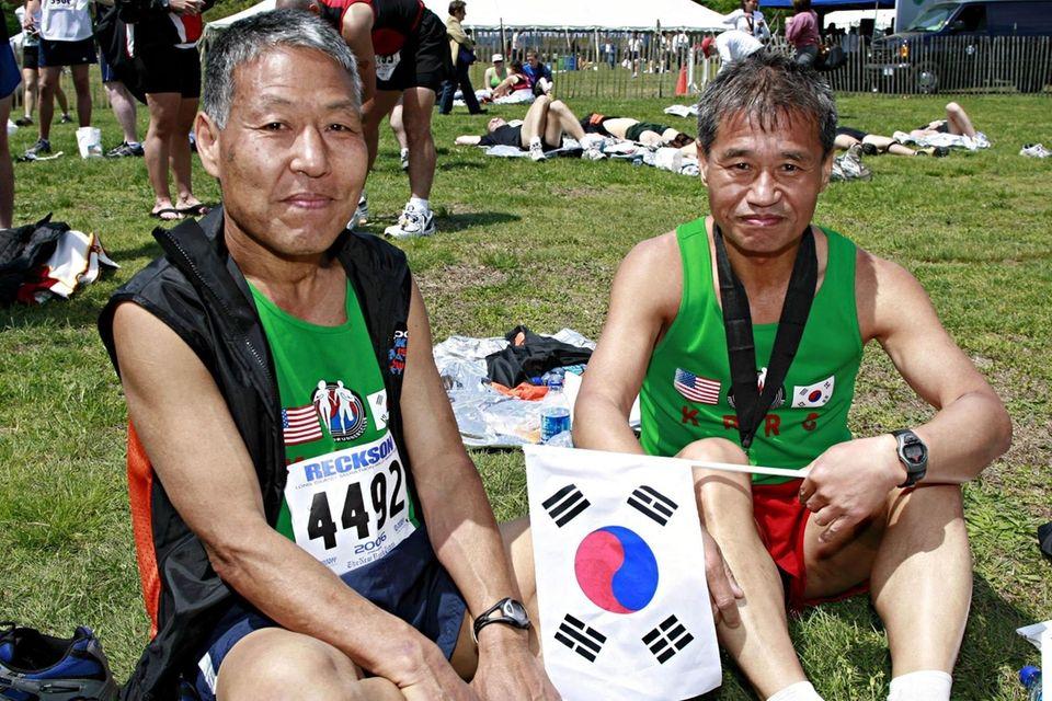 Peter Yu, left, and Kwum Yi Joo of