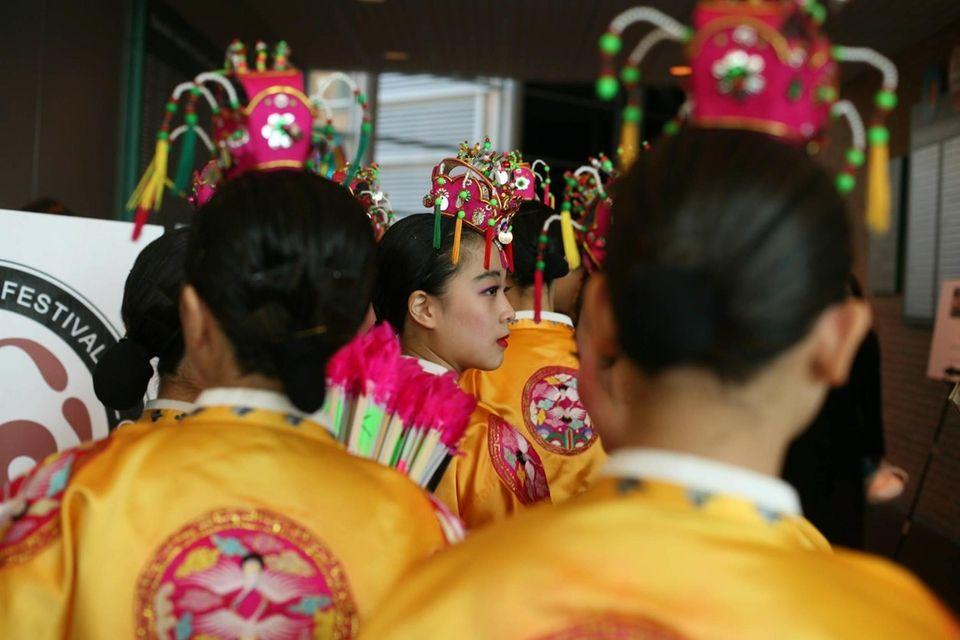 Dancers from the Korean Cultural Club of Herricks