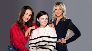 Maggie Q, from left, Ginnifer Goodwin and Eliza