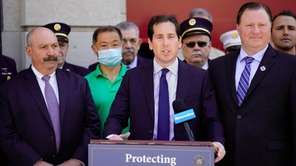 State Sen. Todd Kaminsky (D-Long Beach) spoke at a